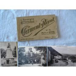 Dépliant de cartes postales anciennes CLERMONT-ROYAT, années 30