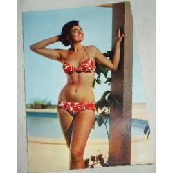 """Carte postale années 60, """"sirène en vacances"""", vintage"""