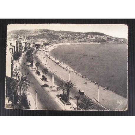 Carte postale 1947, NICE, Promenade des anglais