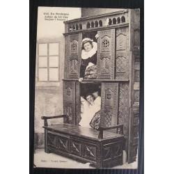 Carte postale ancienne, lit clos Bretagne