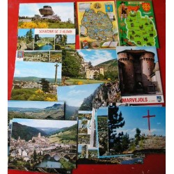 Lot de 25 cartes postales LOZERE