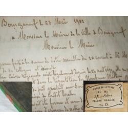 Ancien livre de copies de lettres manuscrites de 1901/1902