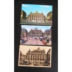 3 cartes postales Opéra de Paris