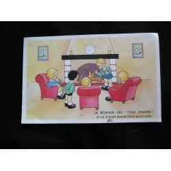 Carte postale ancienne, réunion des 5 grands