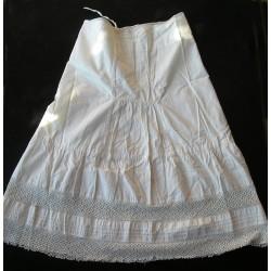 Robe -chemise -jupon ancien, dentelle