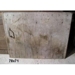 Porte ancienne de placard 78x71