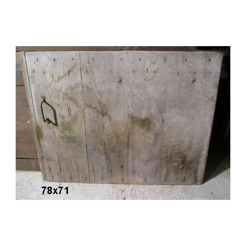 Porte ancienne de placard 78x71 broc23 for Porte de placard ancienne
