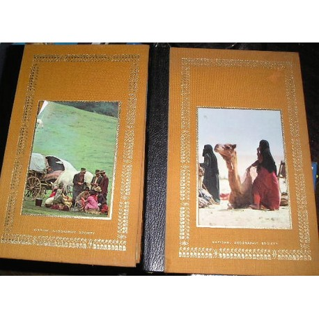 2 livres National géographic society, les nomades  les tziganes 1978