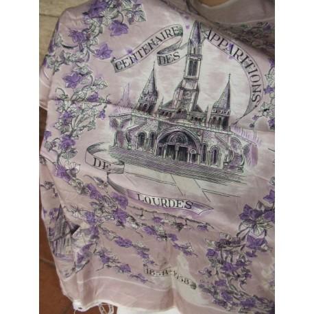 Foulard ancien Centenaire de Lourdes