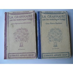 2 Livres scolaires Grammaire  1926-1927