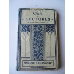 Livre scolaire ancien Lecture 1925
