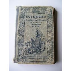 Livre scolaire Sciences et Enseignement ménager 1921