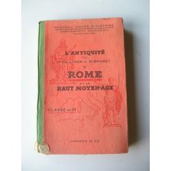 Livre scolaire 1943 Rome Haut Moyen Age