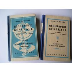 2 Livres scolaires Géographie 1951