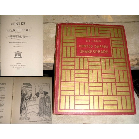 Livre ancien Contes d'après Shakespeare