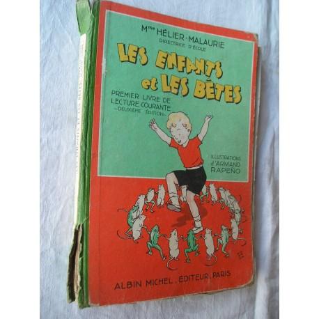 Livre ancien scolaire de lecture