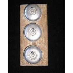 Lot de 3 interrupteurs alu et porcelaine