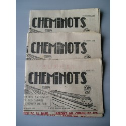 "3 Journaux ""la Tribune du Cheminot"" 1949"
