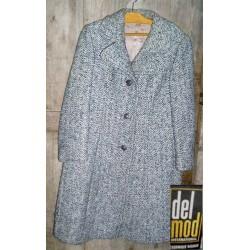 Manteau lainage gris, ancien années 50