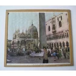 Sous verre Place St Marc Venise années 50