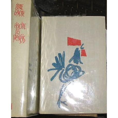 Livres Histoire des français, 2vol.  P. Gaxotte  Flammarion 1951