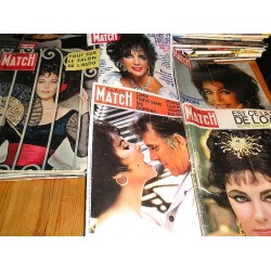 Lot de 5 Paris Match Liz Taylor