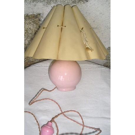 Lampe de chevet rose vintage (années 1960..)