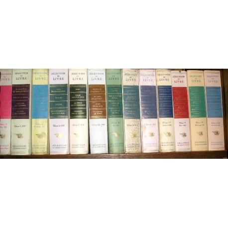 Selection du livre  13 (volumes I, II, III, IV....),
