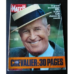 Paris Match Maurice Chevalier 1972