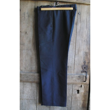 Pantalon ancien homme bleu rayé Canda