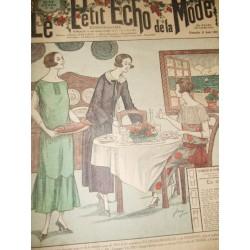 """Revue ancienne """"Petit Echo de la Mode"""" de 1924 (aout)"""