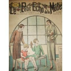 """Revue ancienne """"Petit Echo de la Mode"""" de 1925 (mars)"""