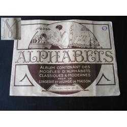 """Revue ancienne de couture """"Alphabets"""" monogrammes"""