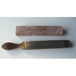 Cuir à affuter les rasoirs coupe-chou, cuir Sollier