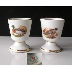 """2Mazagrans  Porcelaine St Hubert """"chasse"""""""