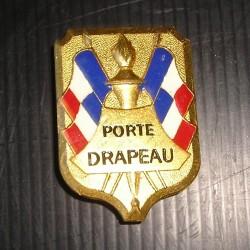 Médaille-broche Porte drapeau