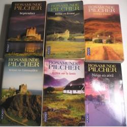 6 Livres romans Rosamund Pilcher