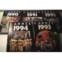 5 Livres Actualités 1990 à 1994 France, Monde...