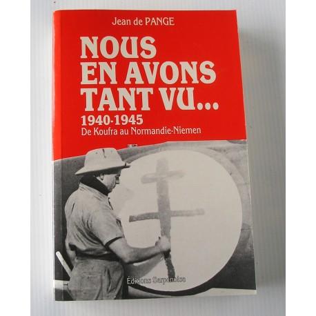 Livre NOUS EN AVONS TANT VU 1940-1945