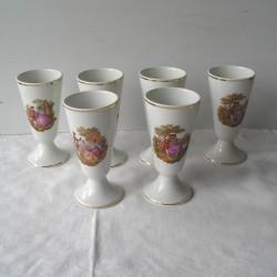 6 Mazagrans Porcelaine de Limoges
