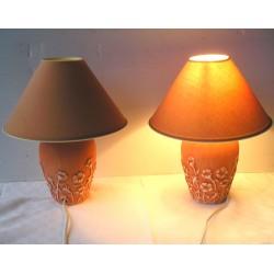 2 lampes pieds en céramique