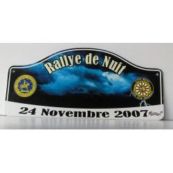 Plaque de rallye DE NUIT 2007