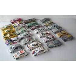 LOT de 27 Voitures miniatures RALLYE 1/43 Burago, Maistro...