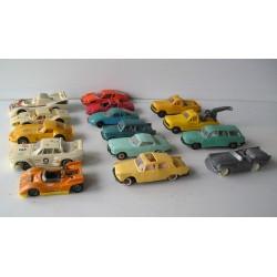 LOT de 15 Voitures miniatures plastique NOREV JOUEF