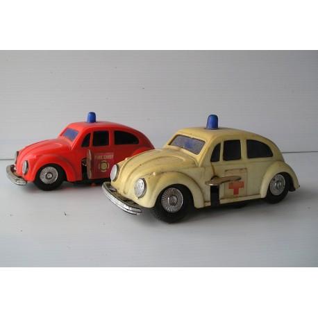 2 Voitures miniatures VW coccinelle, clé