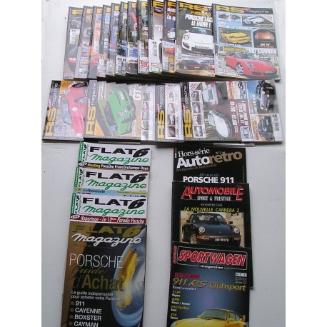 Lot de magazines PORSCHE