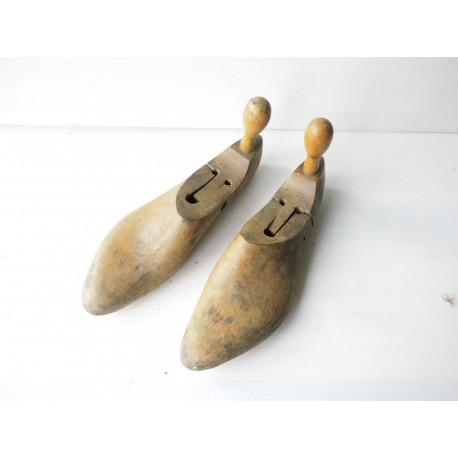 Formes articulées pour chaussures, en bois, 27cm