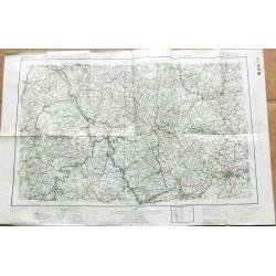 Carte militaire allemande 1945 Frankfurt ww2
