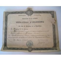 Diplôme militaire 1934