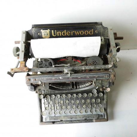 Ancienne machine à écrire ancienne 1930 UNDERWOOD